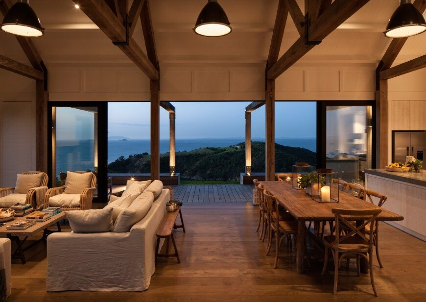 Architecture with maximum exposure to the views and seasonal rhythms - Owhanake Headland  (11)