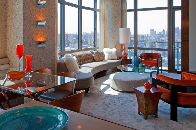 Chelsea Highrise apartment with a unique vibe to each room by designer Andrew Suvalsky. (1)