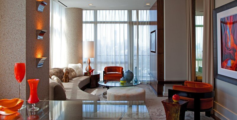 Chelsea Highrise apartment with a unique vibe to each room by designer Andrew Suvalsky. (4)
