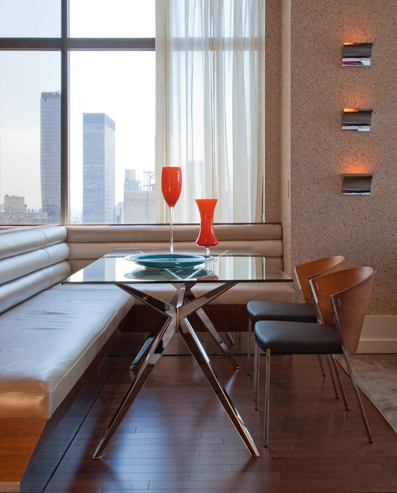 Chelsea Highrise apartment with a unique vibe to each room by designer Andrew Suvalsky. (8)