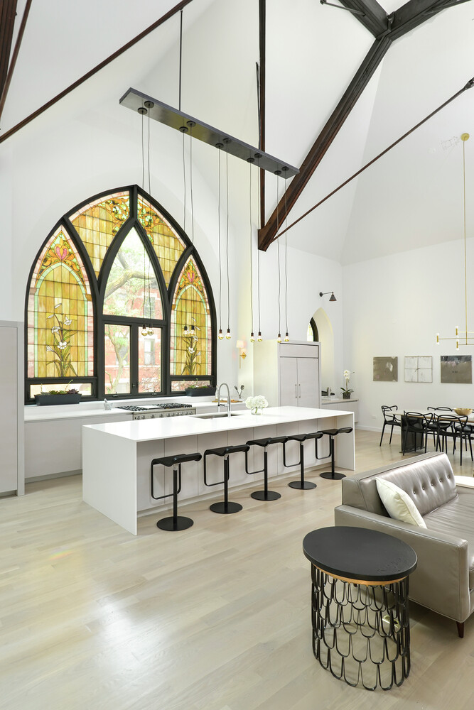 Church converted into a spacious family house (24)