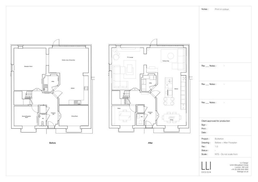Total redesign of the ground floor of a family home (8)
