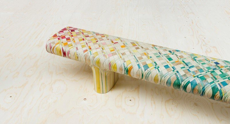 Endgrain - furniture made of dye-soaked pieces of timber (11)