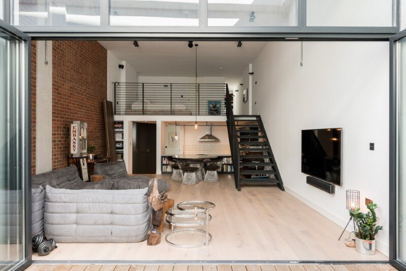 Loft Apartments With An Industrial Factory Feel Northbourne London on Loft Kitchen Design Ideas