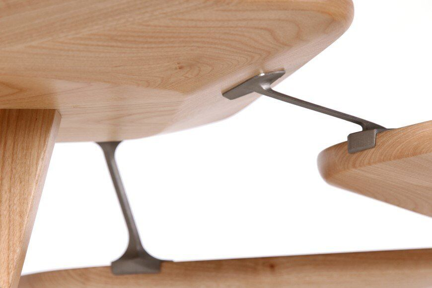 Lounge_table_made_from_hand_crafted_wood_and_ 3D printed titanium