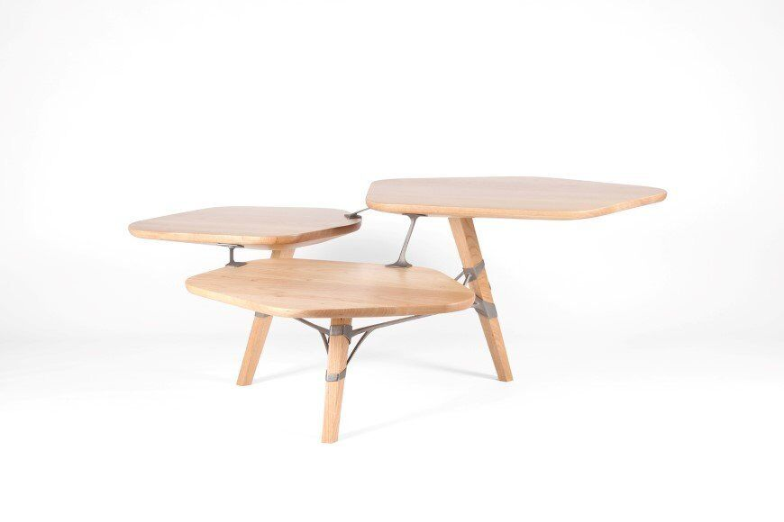 Lounge_table_made_from_hand_crafted_wood_and_  3D printed titanium 5