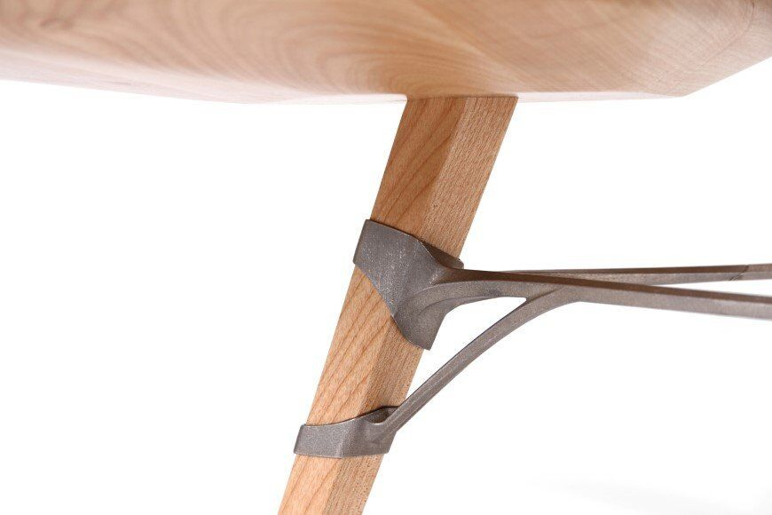 Lounge_table_made_from_hand_crafted_wood_and_ 3D printed titanium 7