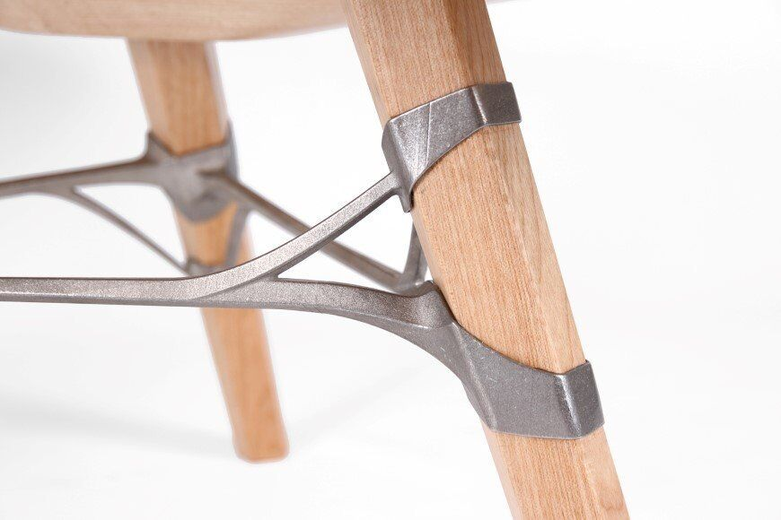 Lounge_table_made_from_hand_crafted_wood_and_ 3D printed titanium 8