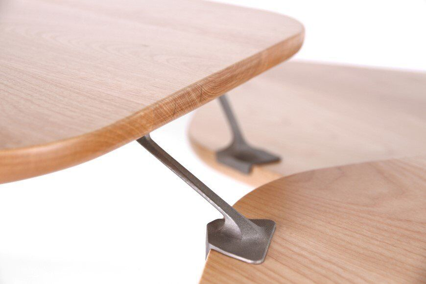 Lounge_table_made_from_hand_crafted_wood_and_ 3D printed titanium 9