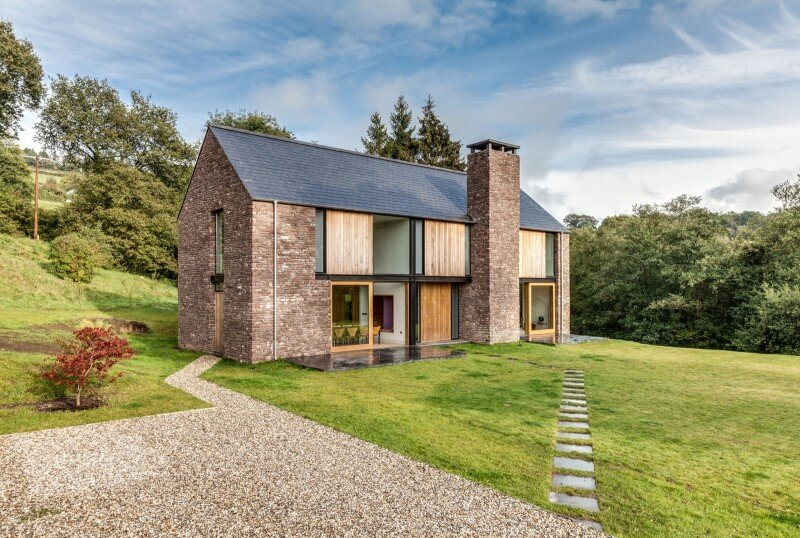 New-build four bedroom family house set in a secluded valley in Monmouthshire (1)