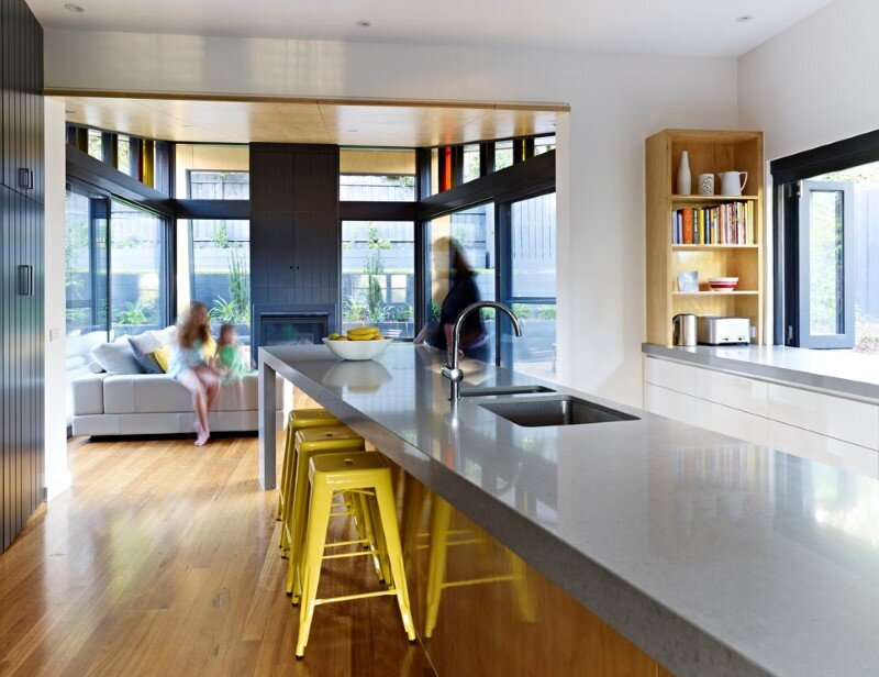 Suburban house extension with environmentally sustainable design (7)