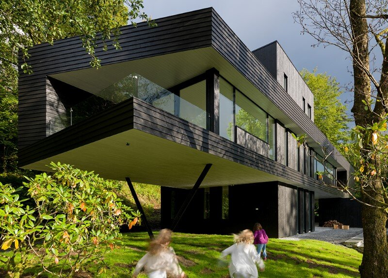 Villa S by Saunders Architecture, in Bergen, Norway (1)