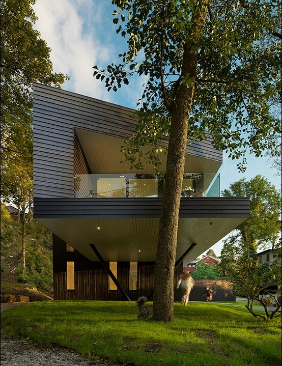 Villa S by Saunders Architecture, in Bergen, Norway (17)