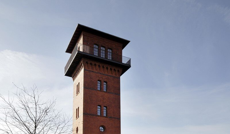 Watertower converted into a unique vacation home with beautiful views over the rooftops of Berlin (16)