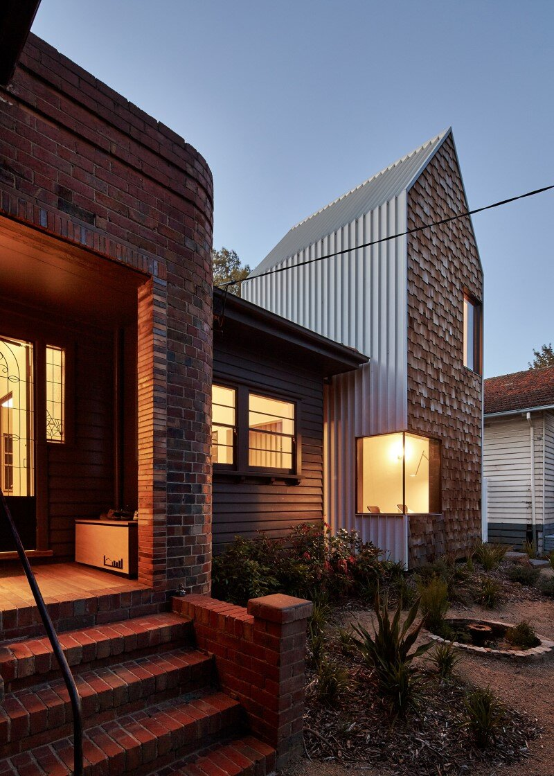 Weatherboard house creative extension and renovation for for Weatherboard house designs