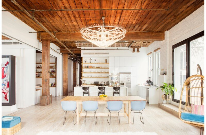 Williamsburg loft – industrial space turned into a comfortable home and work space