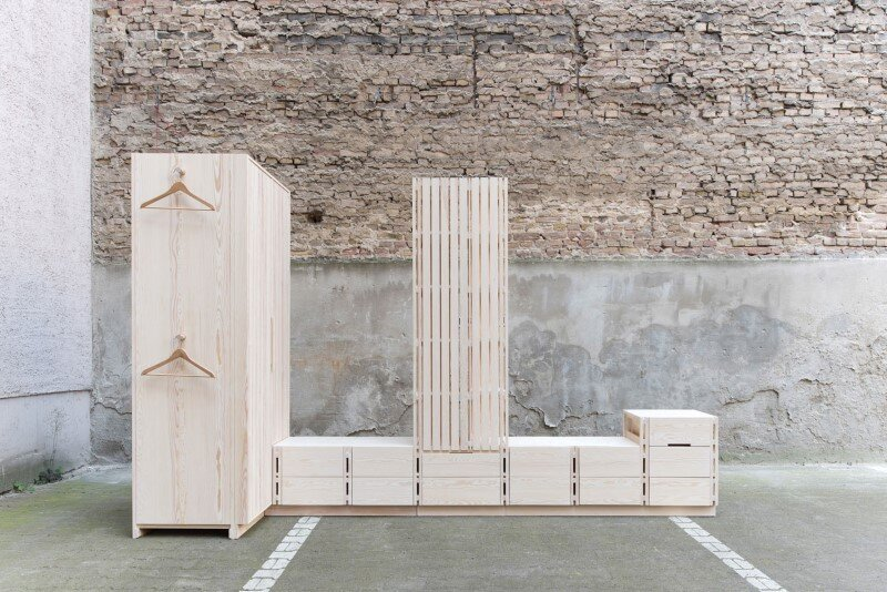 Wooden furniture for bedroom with a minimalist design - Sebastian Fischer (1)