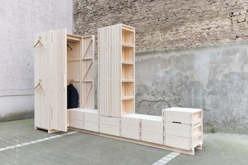 Wooden furniture for bedroom with a minimalist design - Sebastian Fischer (3)