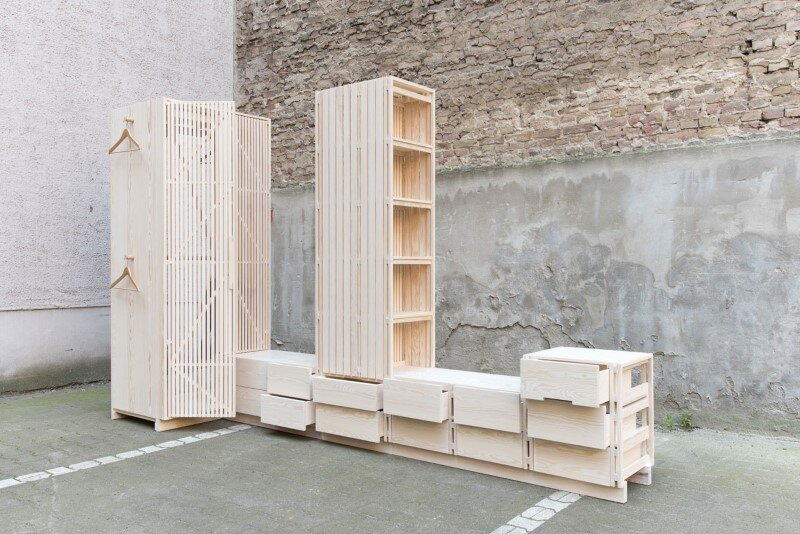 Wooden furniture for bedroom with a minimalist design - Sebastian Fischer (4)