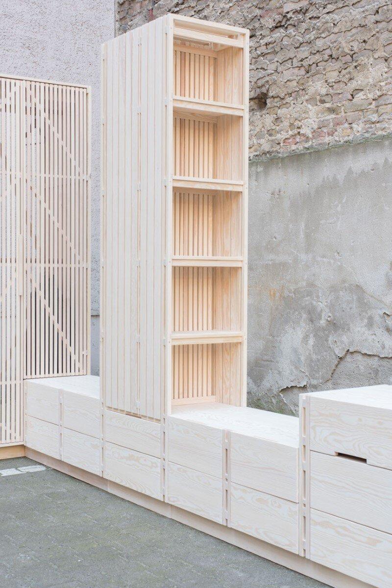 Wooden furniture for bedroom with a minimalist design - Sofas por modulos ...