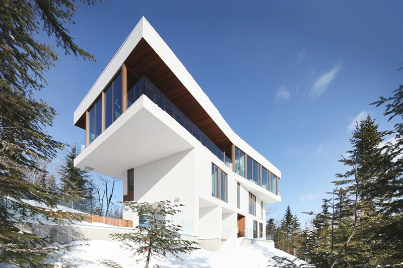 Architectural forms that make a proud statement in the Quebec landscape (19)