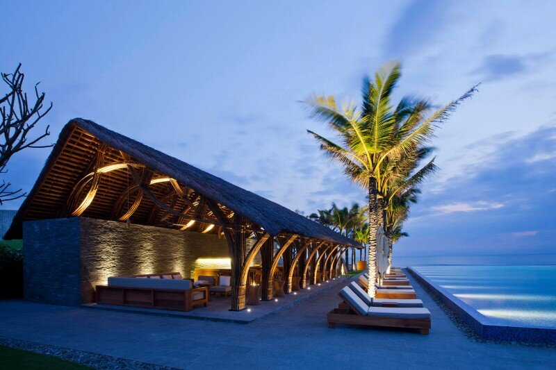 Beach bar in a tropical green resort complex – Naman Retreat