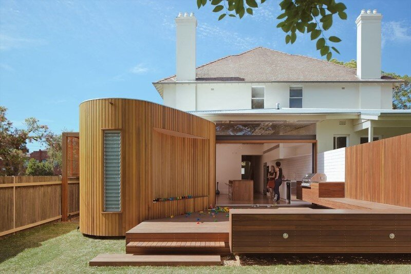 Bold conceptual approach for adding a open kitchen to a semi-detached home - Dulwich Hill Residence (1)