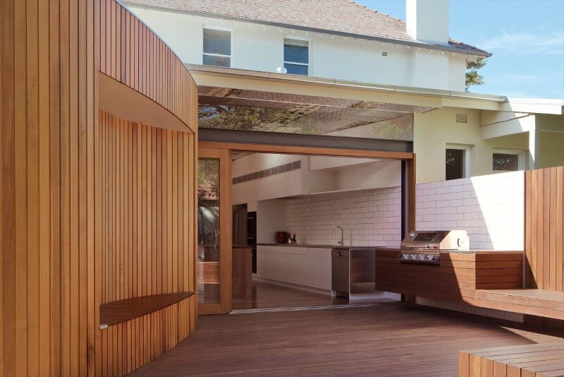 Bold conceptual approach for adding a open kitchen to a semi-detached home - Dulwich Hill Residence (12)