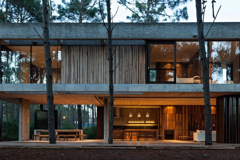 Concrete And Wood Harmoniously Combined In Marino Pinamar