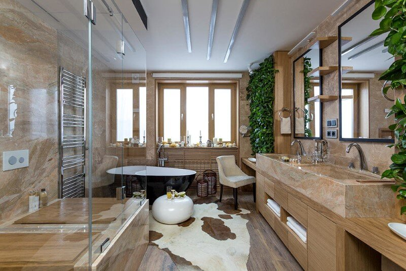 Eco-design that integrates fitomuduli with live plants - bathroom interior design (13)