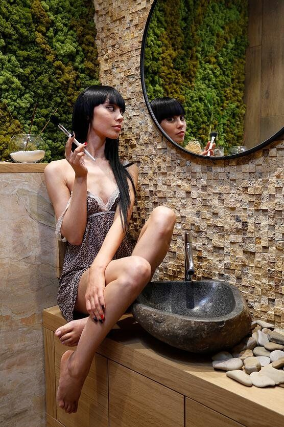 Ecodesign that integrates fitomuduli with live plants - bathroom interior design (7)