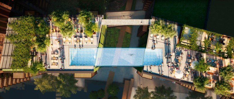 Embassy Gardens Sky Pool - Suspended Glass Swimming Pool (1)