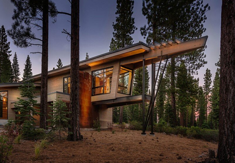Modern Architecture Mountain Homes flight house: modern interpretation of a mountain home