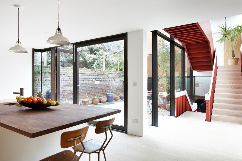 Kew House - family home formed of two sculptural volumes of weathering steel (9)