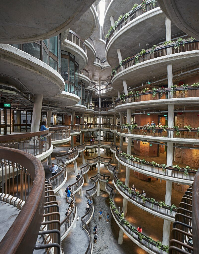 Learning Hub designed by Heatherwick Studio for a university in Singapore (12)