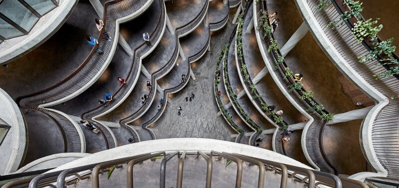 Learning Hub designed by Heatherwick Studio for a university in Singapore (9)