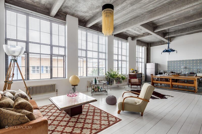 Spacious Apartment With Industrial And Retro Features