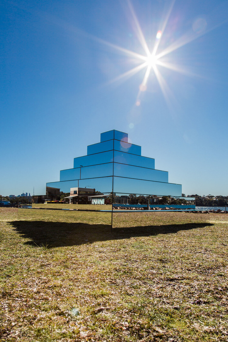 Pyramidal structure of Ziggurat for Underbelly Arts Festival Sydney - by artist Shirin Abedinirad 4
