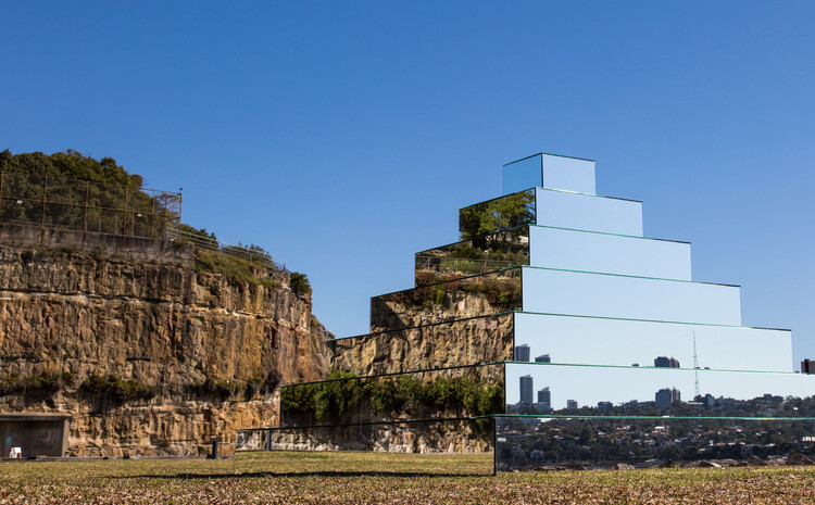 Mirrored Ziggurat for Underbelly Arts Festival Sydney - by artist Shirin Abedinirad