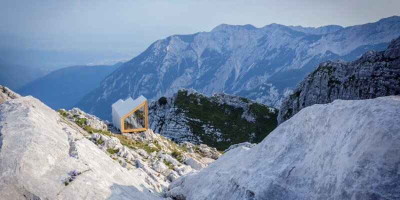 Mountain shelter on the highest peak in Slovenia 16