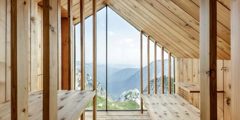 Mountain shelter on the highest peak in Slovenia 17