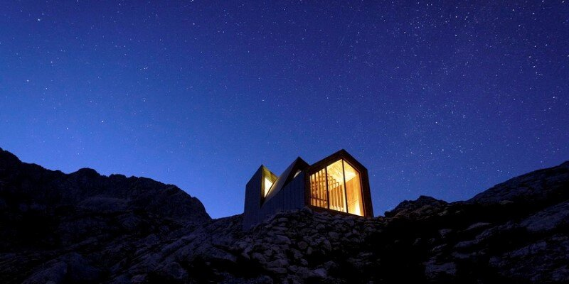 Mountain shelter on the highest peak in Slovenia 19