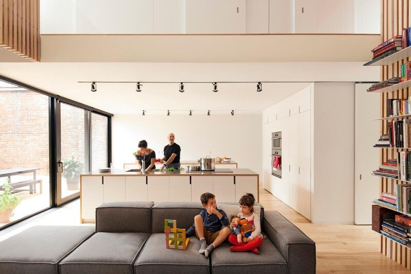 Old duplex renovated and converted into a family home