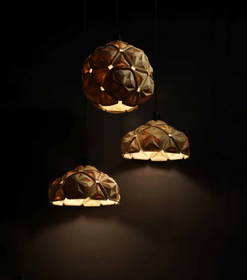 Penta Lamp Collection - aesthetics and sustainability through recycling of cassava waste (2)