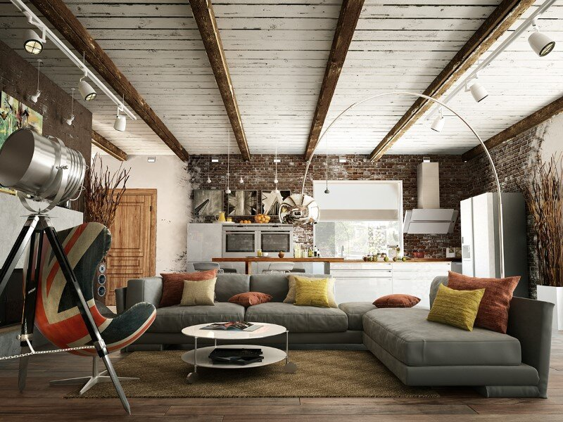Project Interiors Of The Private House By Galina Lavrishcheva   Combination  Of Styles   Rustic And