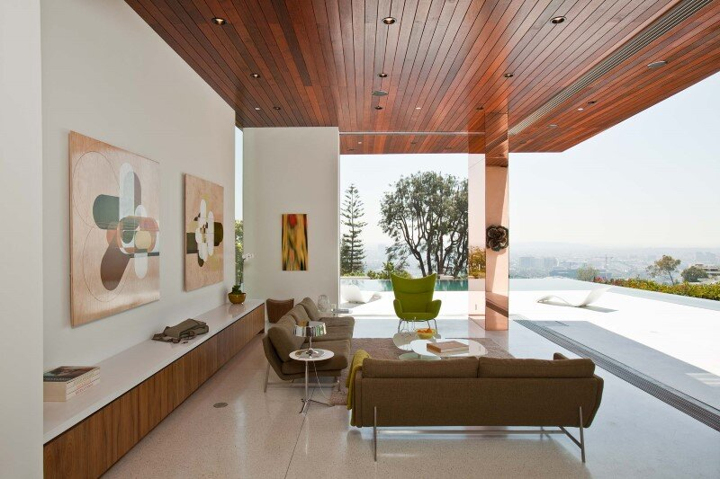 Sunset Plaza Residence modernist forms with dramatic views over Los Angeles (1)
