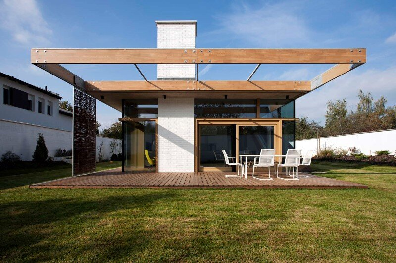 TD House combination of modernism and rural architecture (2)