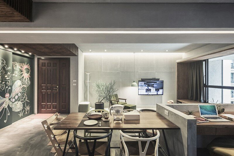 Taipei apartment by 323 interior (10)