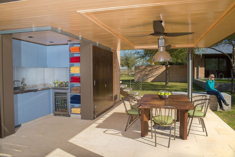 Temple Ranch Pool Cabana with jacal shade structures (7)