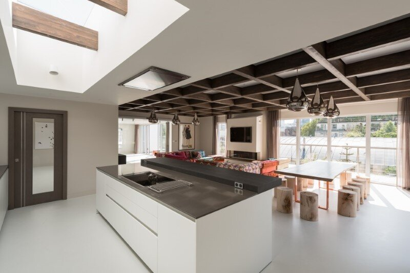 Two-bedroom London penthouse constructed on a Cross-Laminated Timber frame (5)